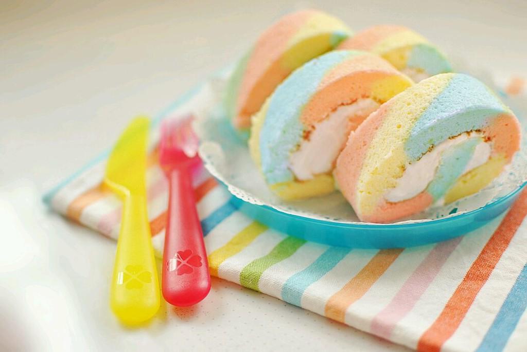 彩虹蛋糕卷的做法_【图解】彩虹蛋糕卷怎么做如何做