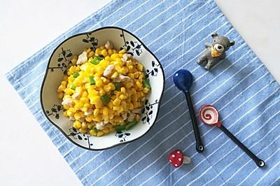 5分钟快手菜-鲜嫩玉米肉丁