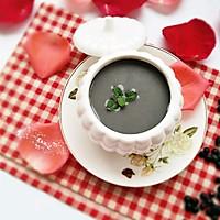 黑芝麻黑豆米糊#美的早安豆浆机