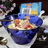 肉肠鸡蛋沙拉#百福吉食尚达人#