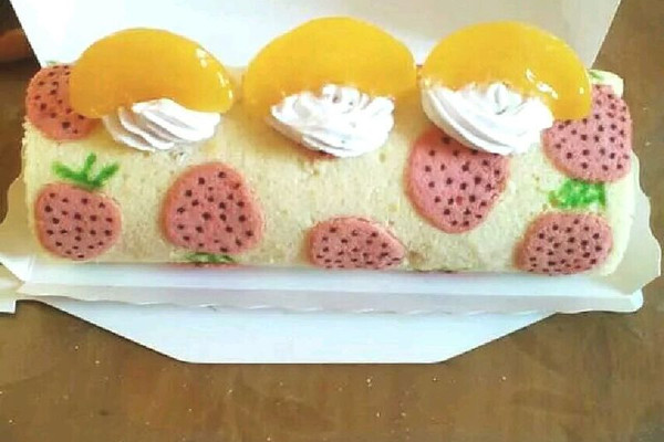 手绘蛋糕卷