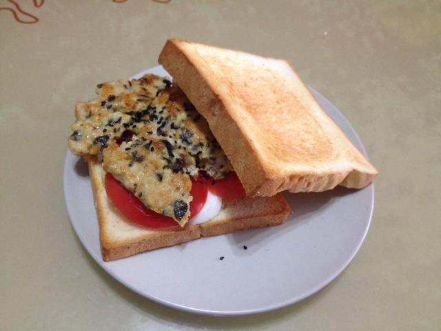 儿童营养早餐三明治的做法