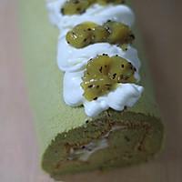 猕猴桃果酱抹茶蛋糕卷