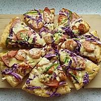 紫甘蓝虾仁披萨#比暖男更暖的是#