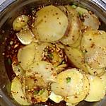 小鱼儿 土豆片 凉拌 ci/3.热锅凉油至油烧热,放入少许花椒粒干辣椒,捞出。将调好的...