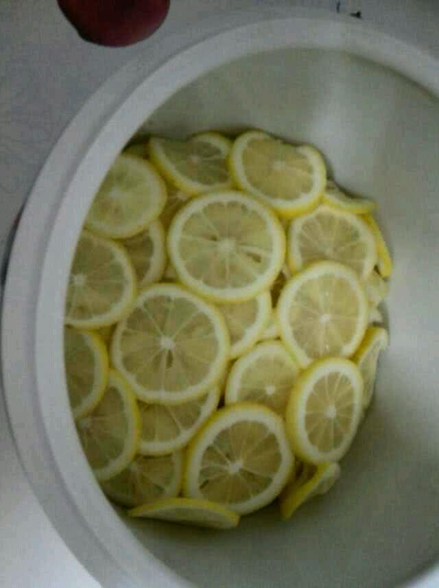 洗好后的檸檬晾乾切薄片,去掉裡面的籽,會苦 ...