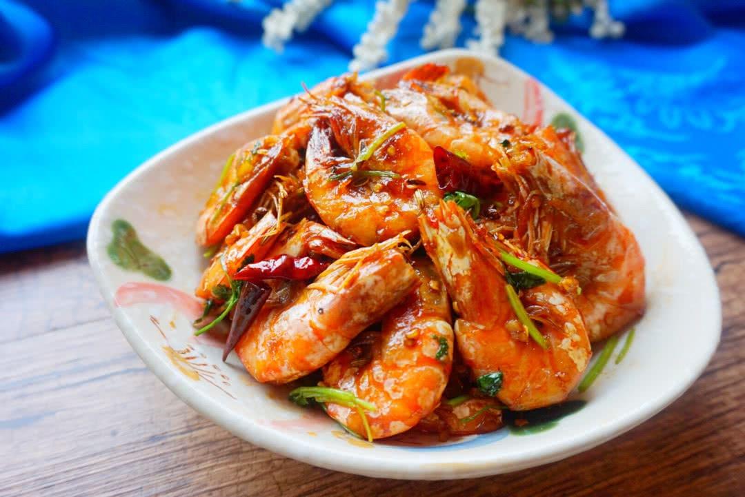 麻辣干锅虾的做法_【图解】麻辣干锅虾怎么做如何做