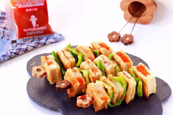 香辣千叶豆腐串|简单快手吃出烧烤新感觉#丘比沙拉汁#的做法