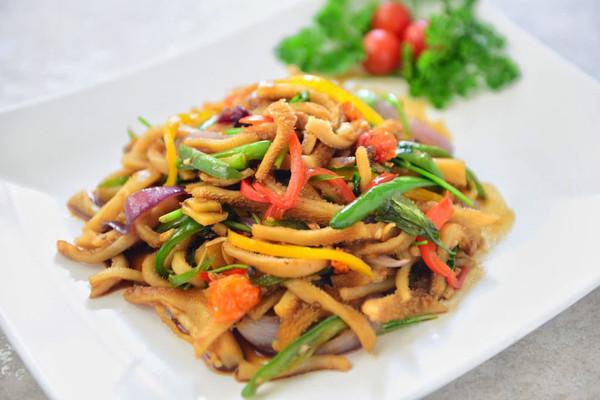 新疆菜-爆炒羊肚#德国miji爱心菜#的做法