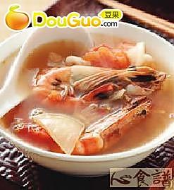 酸辣海鲜汤的做法