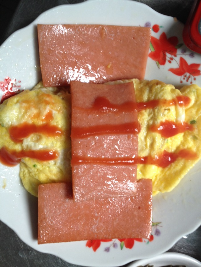 煎鸡蛋午餐肉的做法图解5