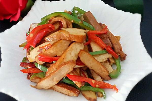 小炒豆腐干 #美极鲜味汁#的做法