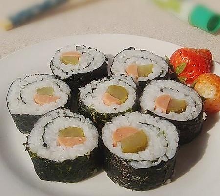 酸黄瓜寿司的做法