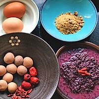 黑米酒酿蛋的做法图解1