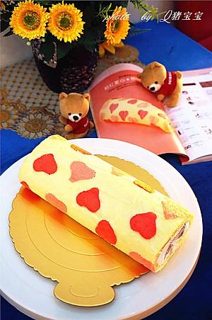 宝宝的粉红爱心彩绘蛋糕卷 冬季暖身 九阳烘焙剧场 的做法的评论 怎