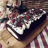蔓越莓可可戚风蛋糕卷