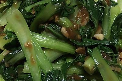 蒜香盖浇青菜(下饭神器)