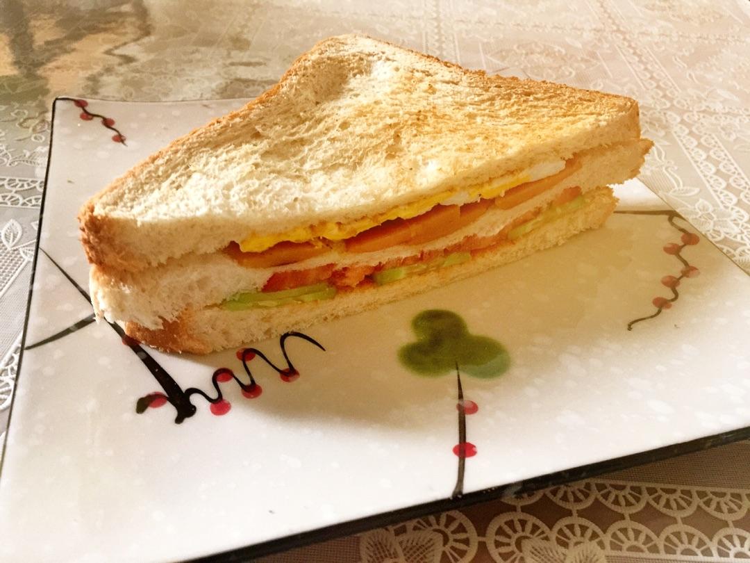 三明治的做法步骤 1.