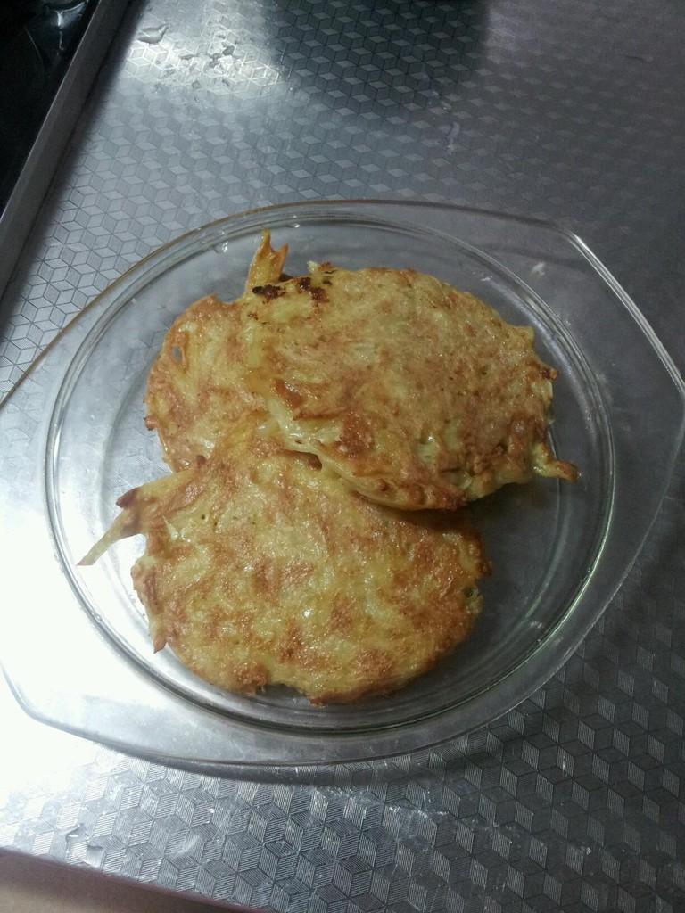 主料 1个 2个 适量 辅料   1小段 黑胡椒粉 盐 土豆饼的做法步骤 小