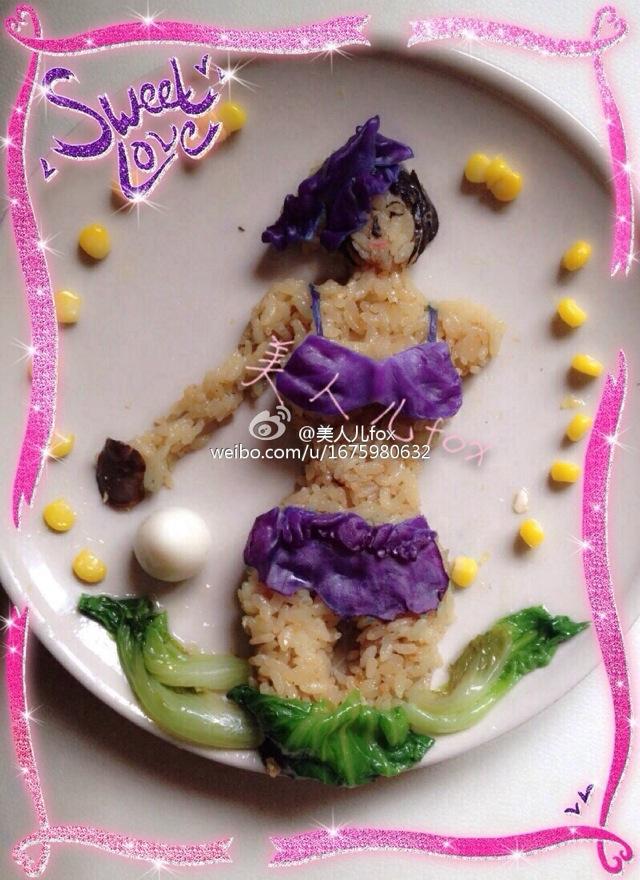 创意午餐---比基尼少女的做法步骤图片