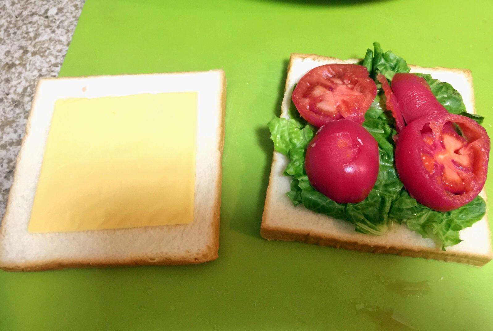 芝士鸡蛋三明治的做法图解1