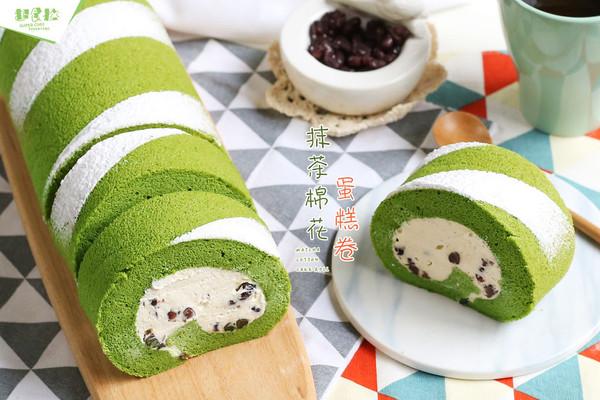 抹茶棉花蛋糕卷#春天里的一抹绿#的做法