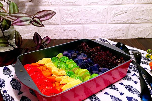 彩虹蔬菜沙拉#丘比轻食厨艺大赛#的做法