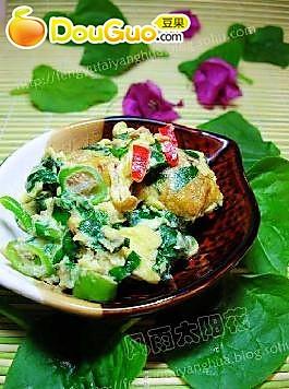 木耳菜炒鸡蛋的做法