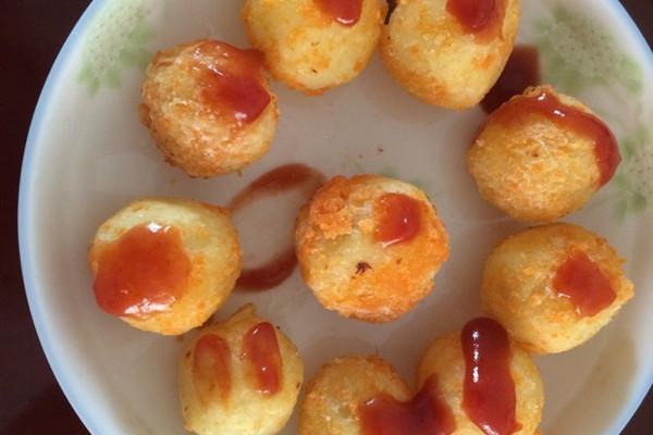 马铃薯半复粒淀粉粒手绘图