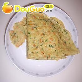芹菜叶胡萝卜肉末蛋饼的做法