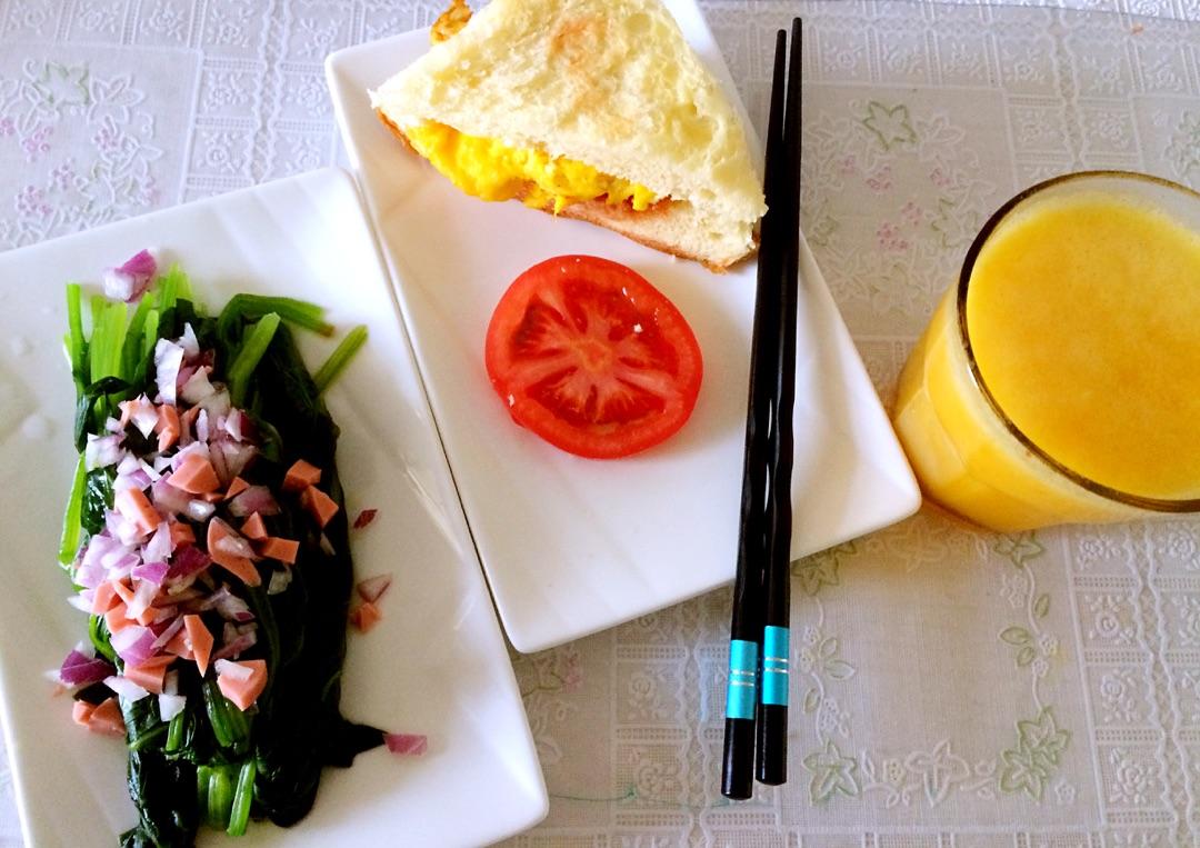 营养早餐的做法图解1
