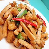 杏鲍菇爆鲈鱼