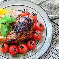 迷迭香煎烤鸡全腿配油浸小番茄#有颜值的实力派#