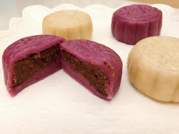 双色水晶饼—紫薯饼&山药饼