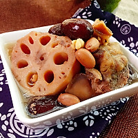 花生薏米红枣骨藕汤#花家味道#的做法图解5