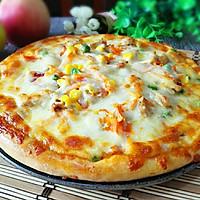 黑椒鸡肉蔬菜披萨#有颜值的实力派#