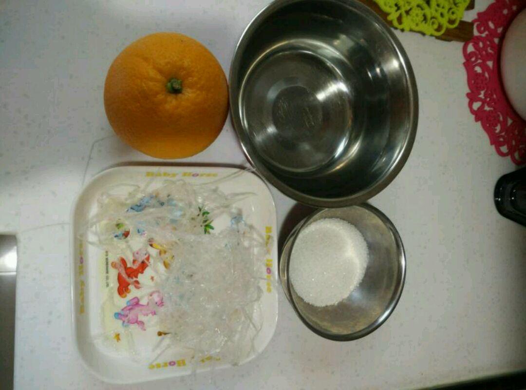 橙肉果冻的做法步骤