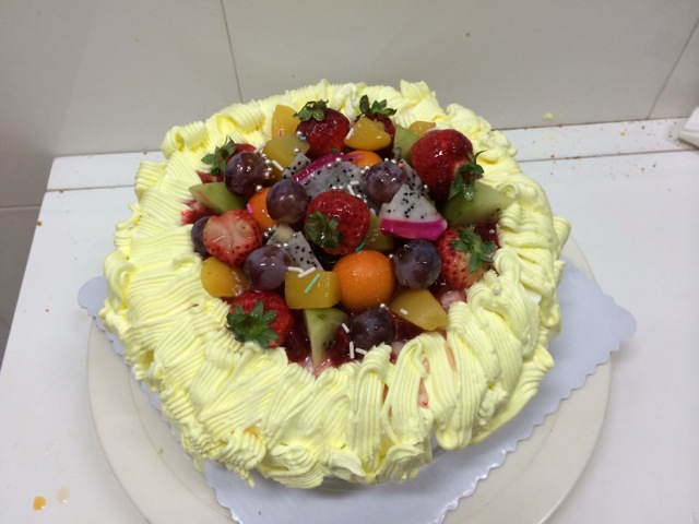 奶油水果生日蛋糕