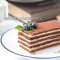 可可蓝莓果酱千层蛋糕