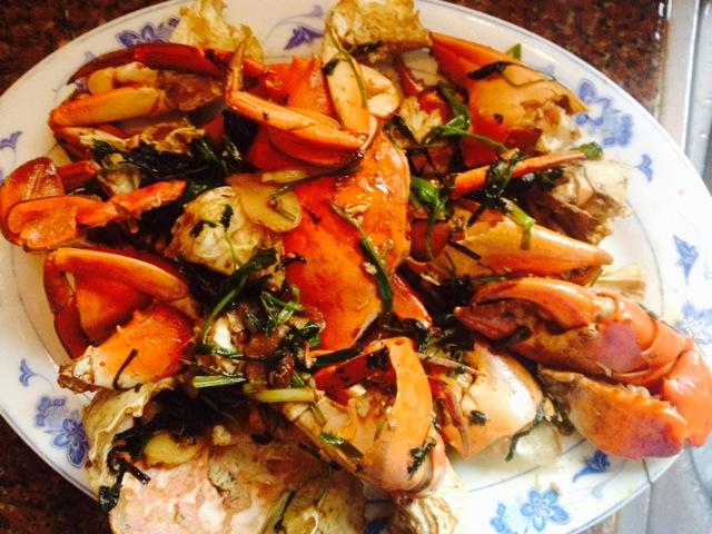 姜葱炒蟹的做法图解6