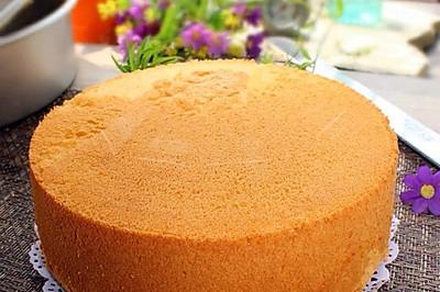 【烘焙门槛】八寸戚风蛋糕#自己做更健康#