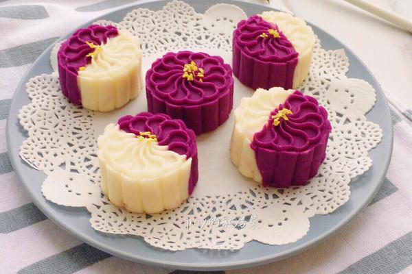 桂花紫薯山药糕#发现粗食之美#的做法