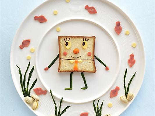 心情好胃口更好,可爱的海绵宝宝早餐