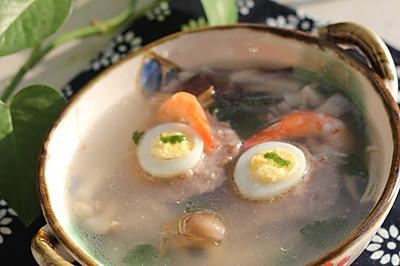 杂菇Q蛋汤