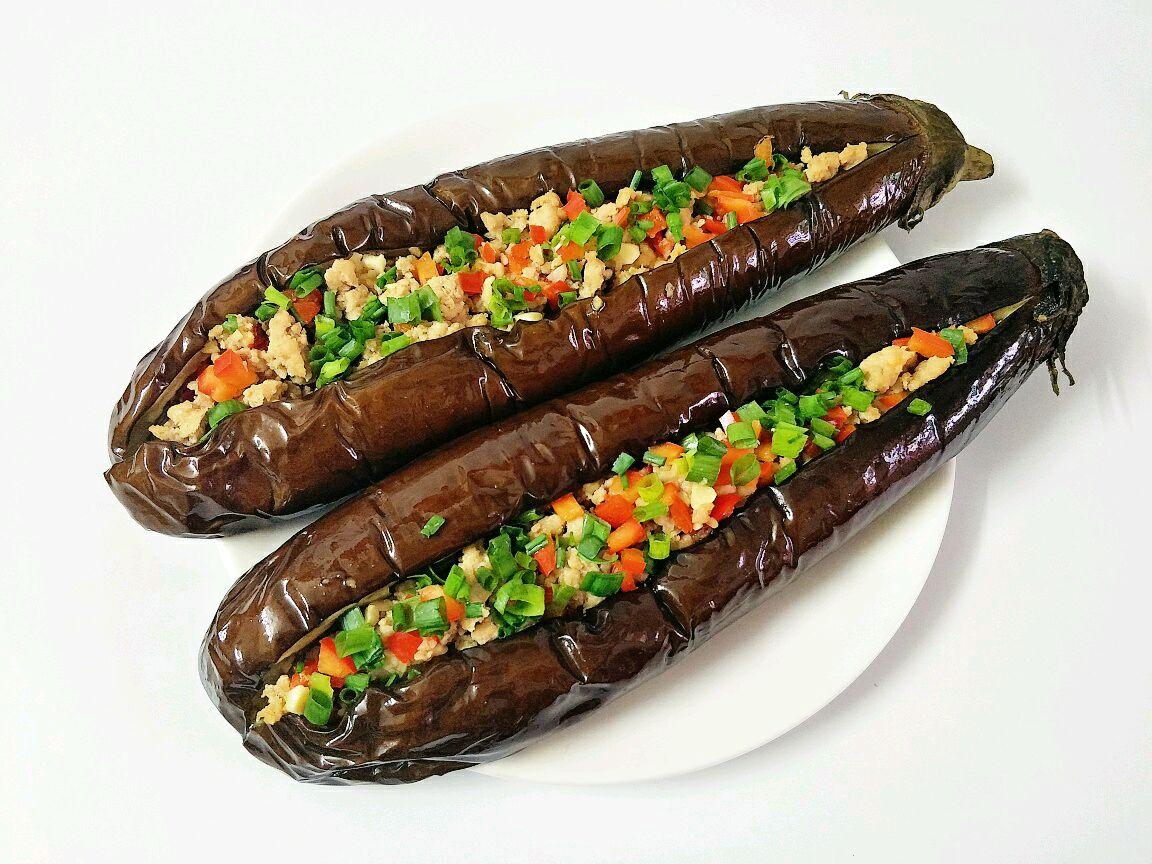 蒜香肉末茄子(烤箱版)的做法_【图解】蒜香肉末茄子()
