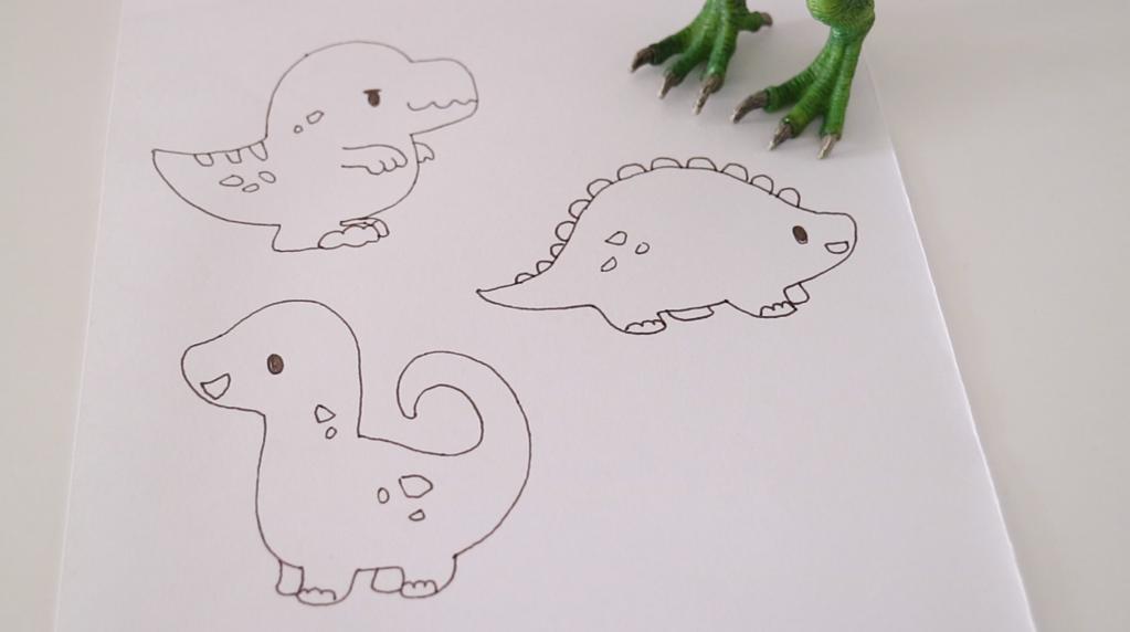 无需模具做可爱小恐龙饼干 快乐假日亲子烘焙的做法图解6