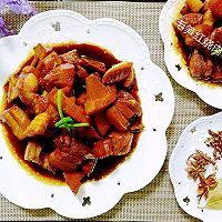 毛笋红烧肉