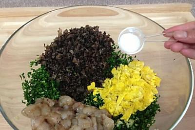 韭菜虾仁素三鲜水饺(图解)-第88页 鲜味食物的做法 鲜味食物的做法