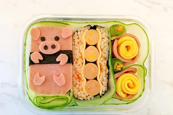 小猪版紫菜包饭便当的做法
