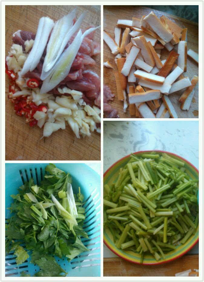 芹菜香干炒肉的做法步骤
